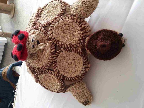 Oyuncak örgü kaplumbağa, Hediyelik eşya, muz lifi, sanat eserleri-52